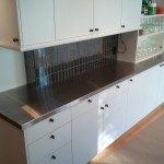 Replaced laminate countertop with stainless.