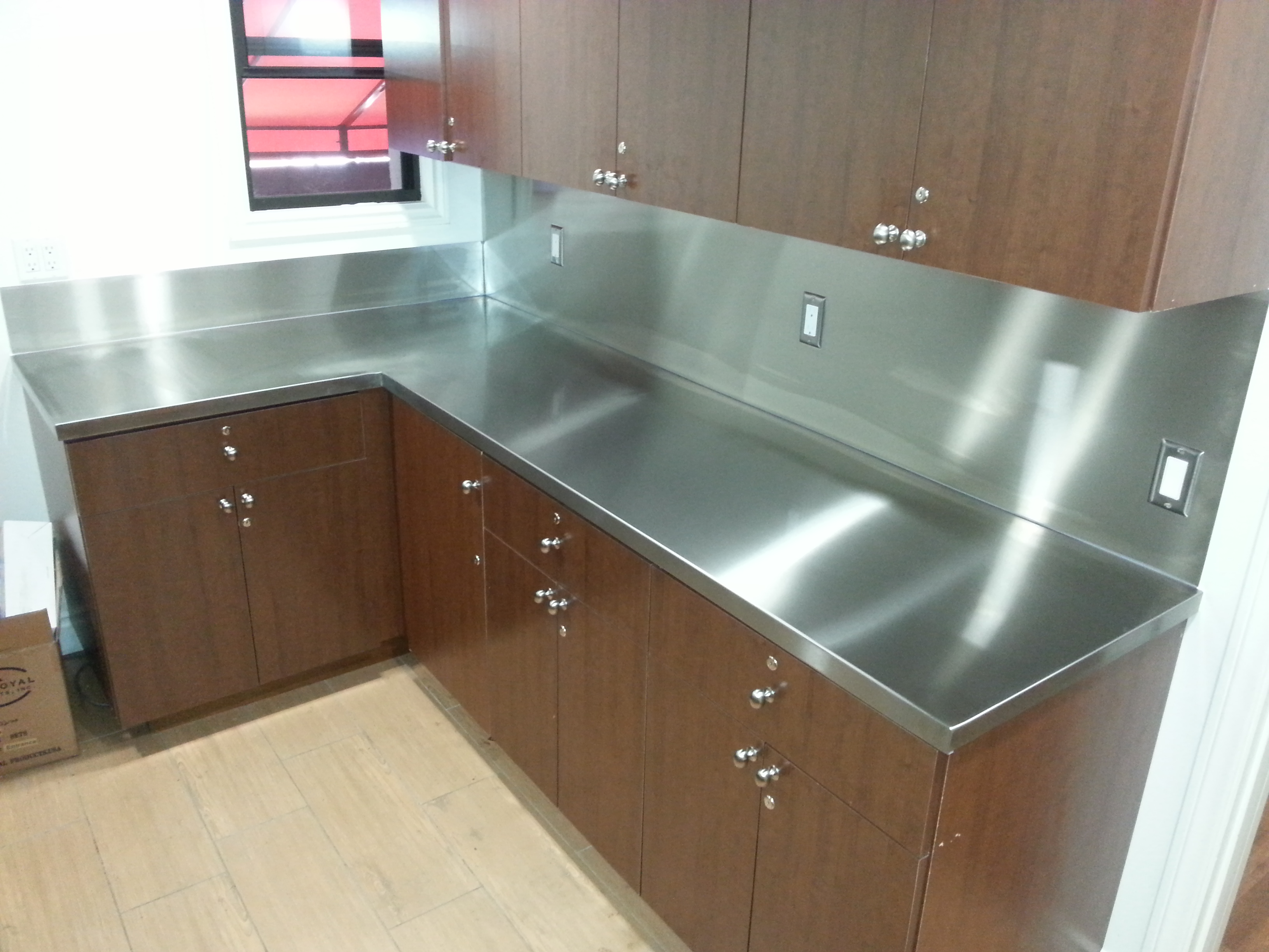 countertop steel metal custom product countertops with home stainless sink