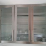 Stainless Steel Cabinet Doors with Glass