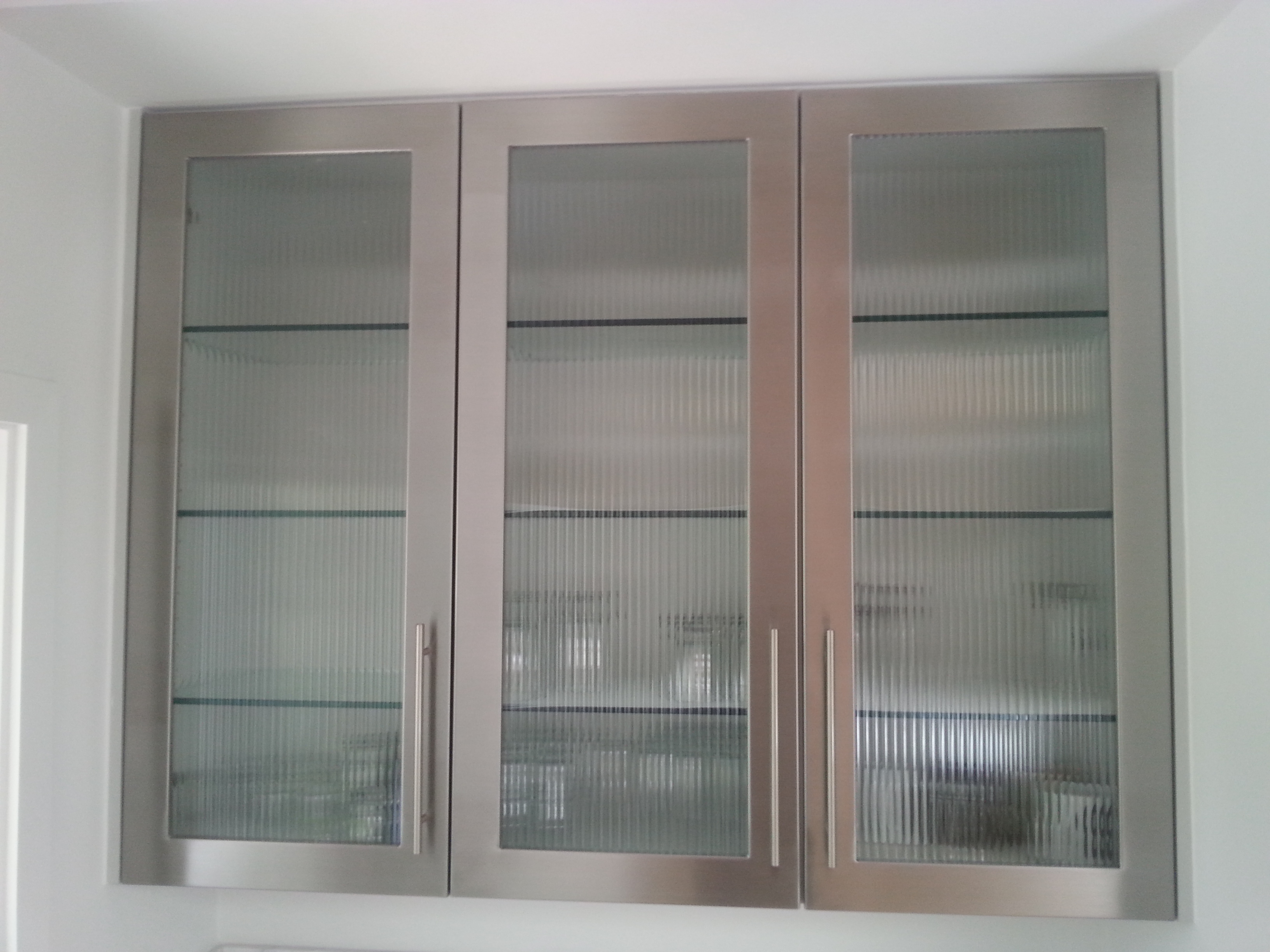 Stainless steel project photos for Metal cabinet doors kitchen