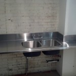 Stainless Countertop with Double Sink