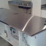 Stainless Countertop with knock box