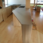 Custom Stainless Angle Countertop