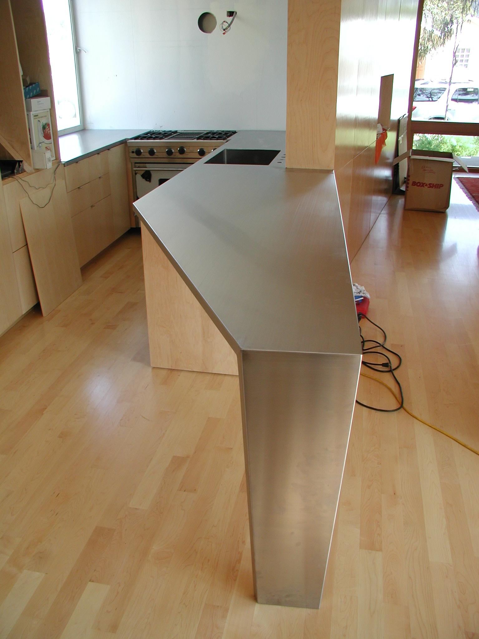 Custom Stainless Angle Countertop
