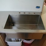Stainless Sink with offset drain