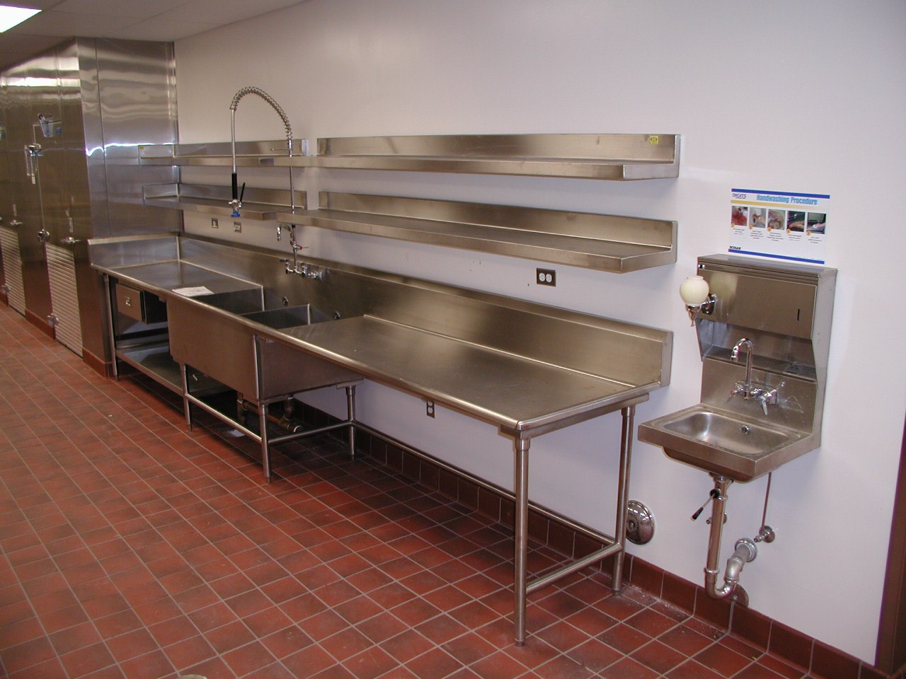 Shelves and Countertop with double sink