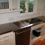 Stainless Countertop with drain rails and sink