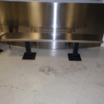 LAPD Stainless Steel Inmate Bench