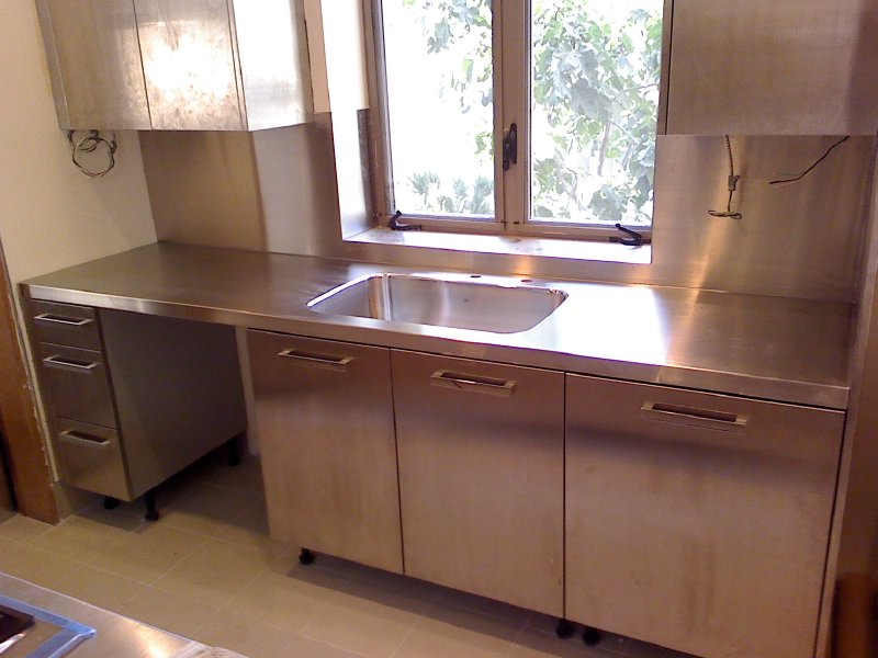 Stainless Countertop with Doors