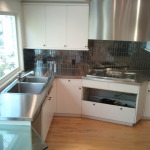 Stainless Corner Countertop and Hood