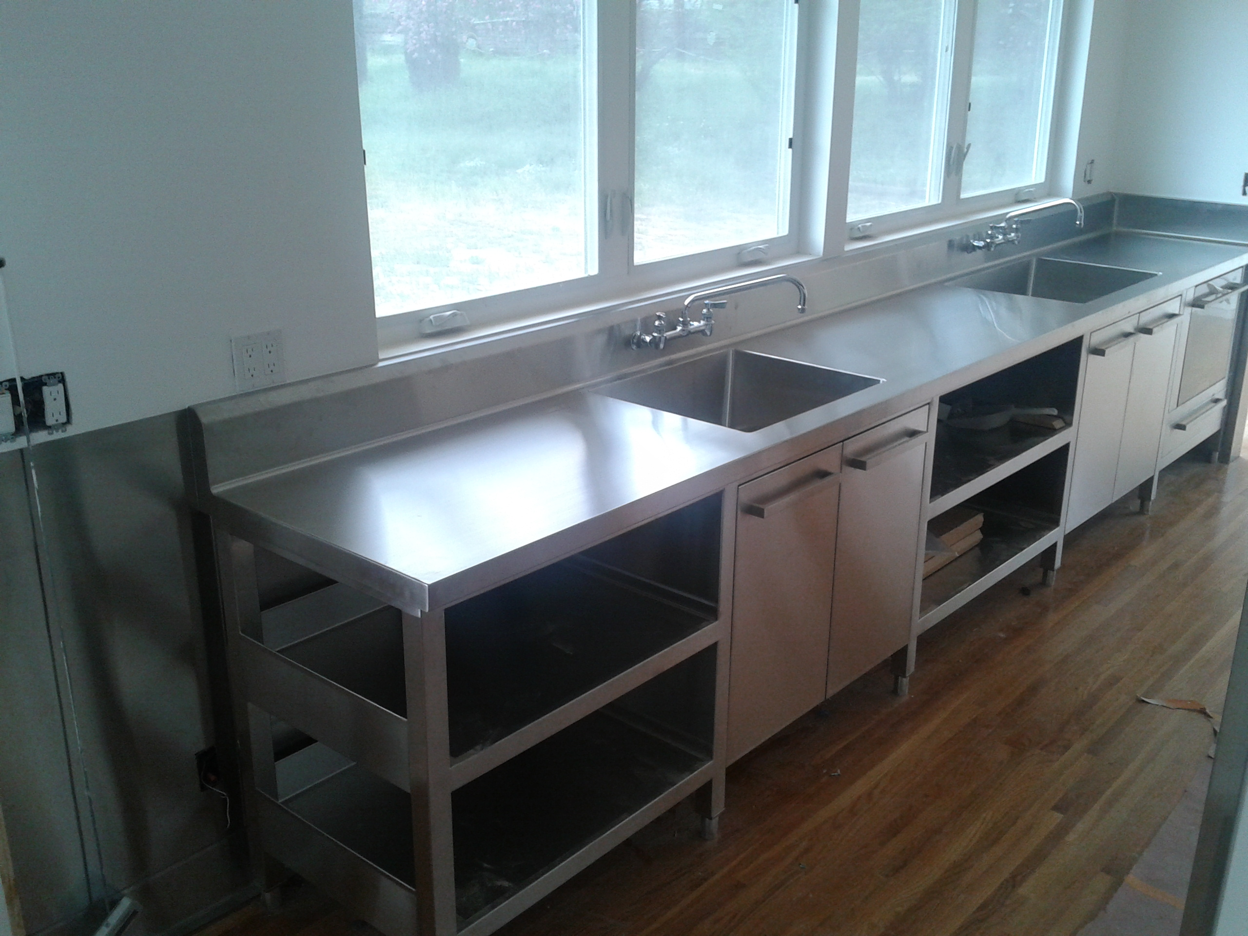 Stainless Steel Dual Sink Cabinet And Top Jnl Stainless Inc