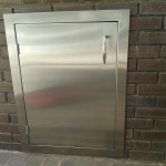 Stainless Steel BBQ Door