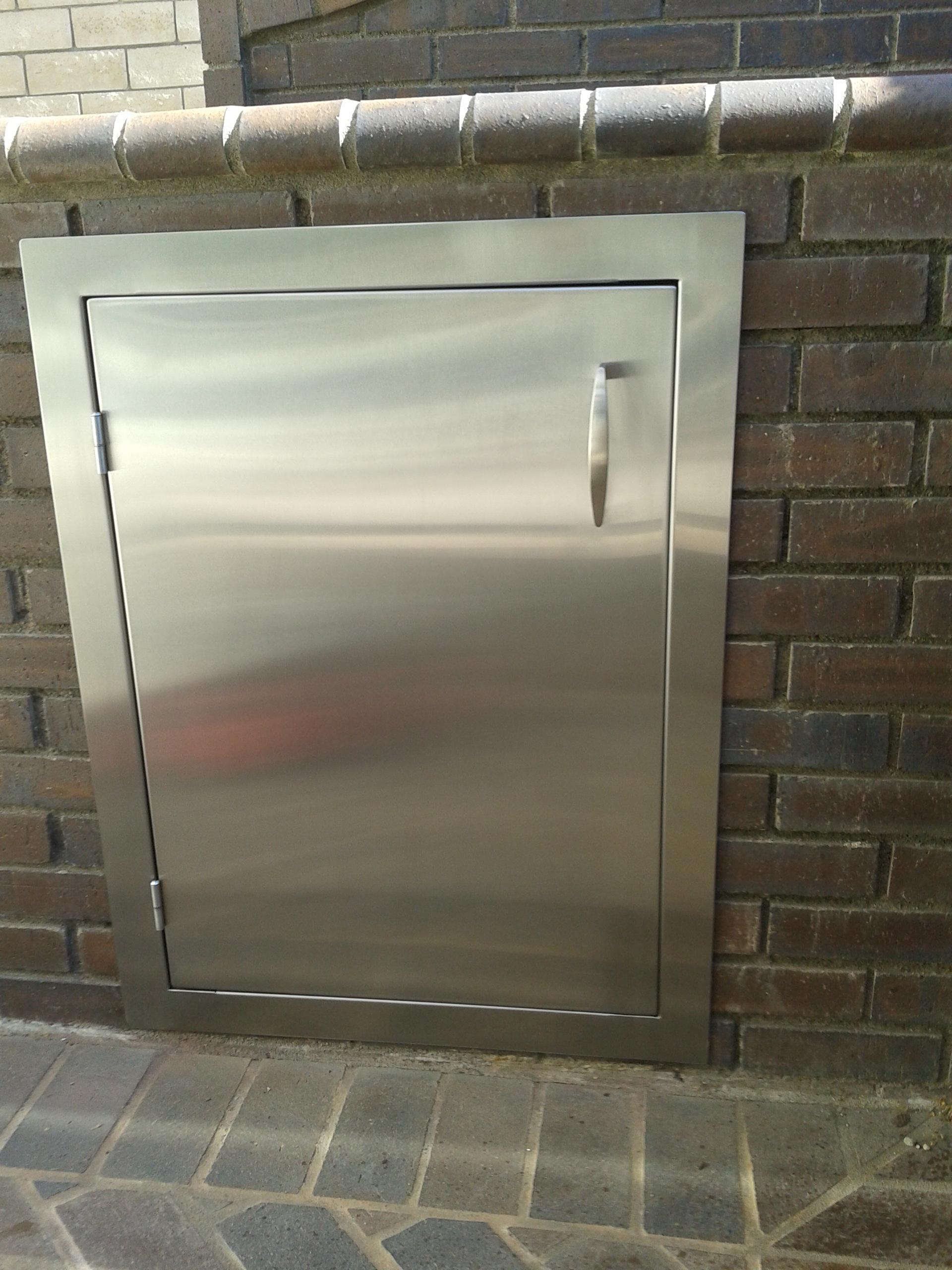 Stainless Steel BBQ Door