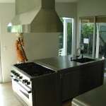 Stainless Island with Hood