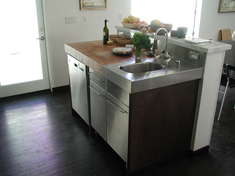 Custom Stainless Sink with drawer faces