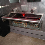 Stainless Sink and diamond plate