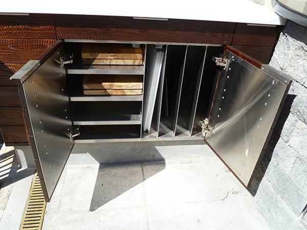 Internal Stainless BBQ Custom Paneling